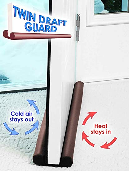 House of Quirk Twin Door Draft Guard. Stop Unwanted light and Stop escaping of cool air from air conditioner split or Window