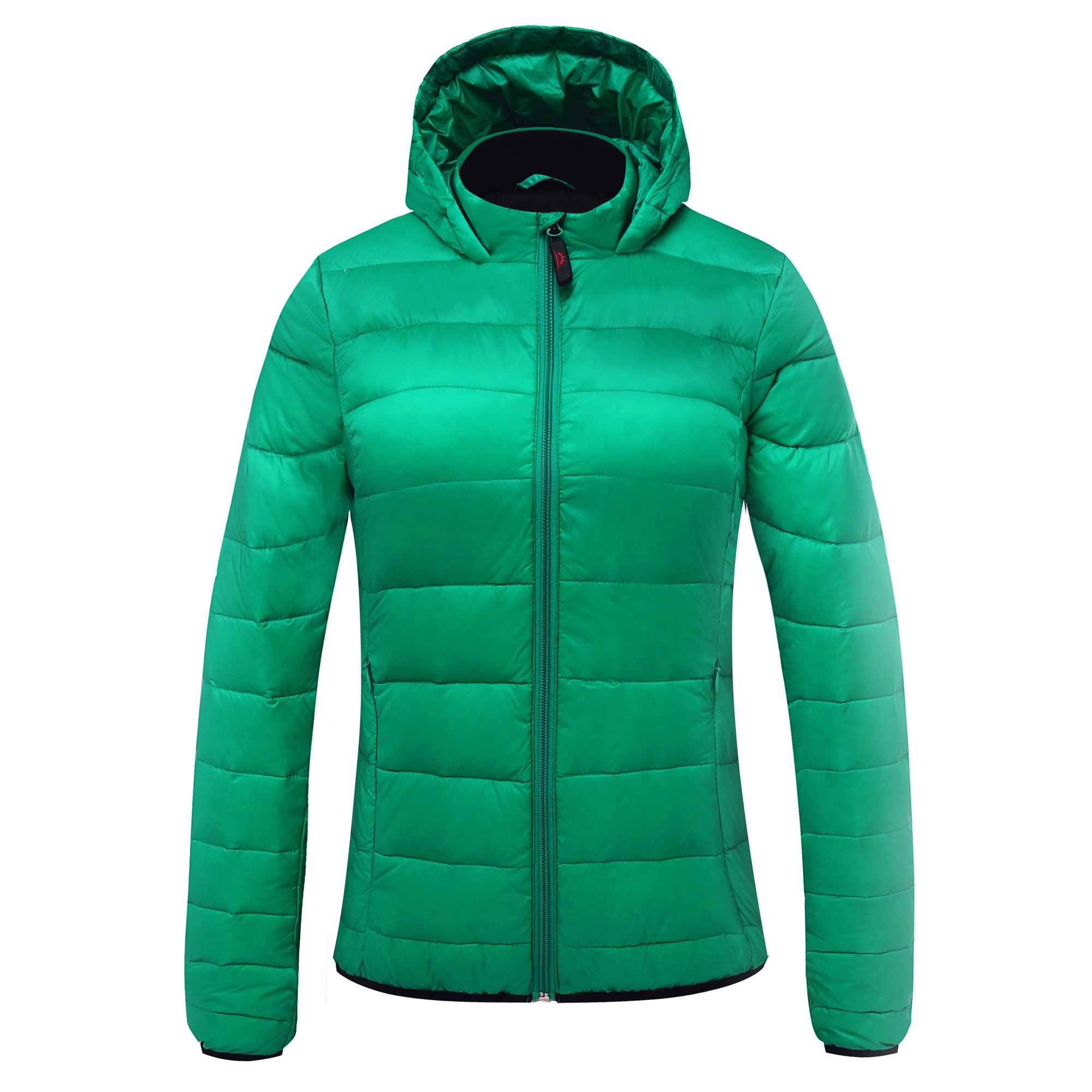 Cordless 5V 2A Women's Heated Jacket for Winter Outdoor Wear (S, Green Without 5000mAh PowerBank)