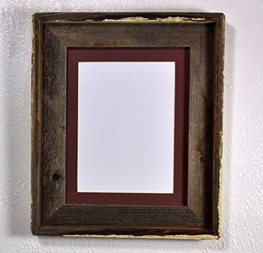 Amazon 8x6 Brown Mat In 8x10 Picture Frame Rustic Reclaimed