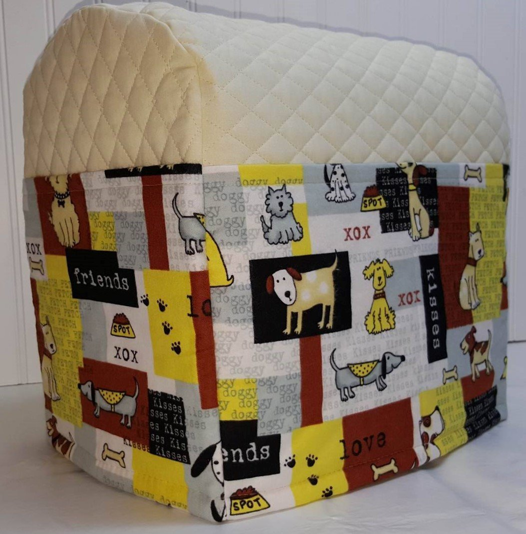 Quilted Dog Patch Kitchenaid Tilt Head Stand Mixer Cover (Black) by Penny's Needful Things Penny's Needful Things