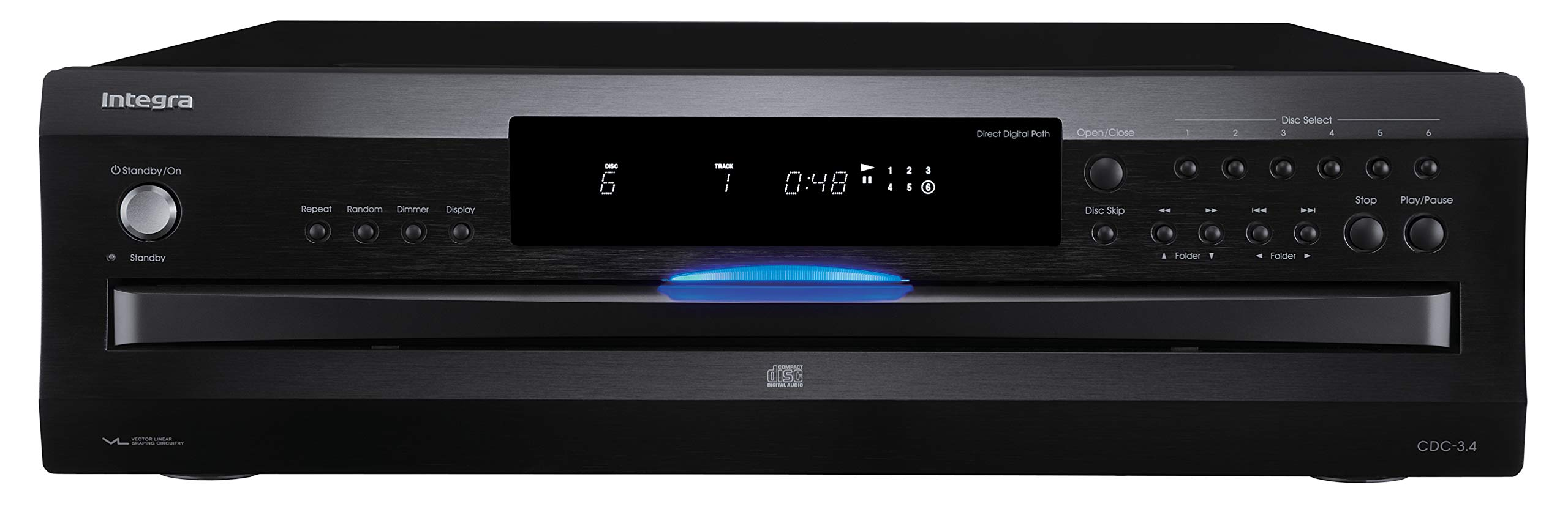 Integra Premium 6 Disc CD Carousel Changer Black (CDC-3.4) by Integra