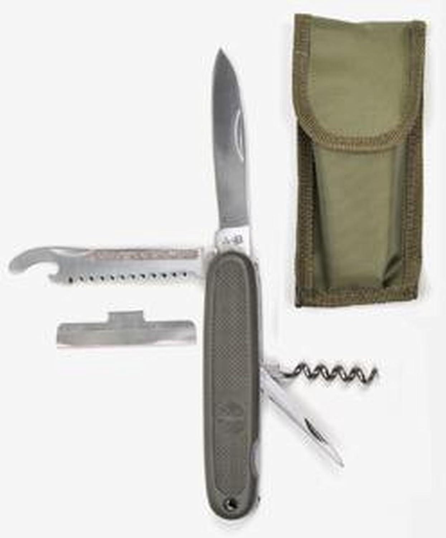 Multifuncional Militar navaja con águila verde con funda del cuchillo