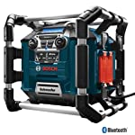 Bosch Bluetooth Power Box Jobsite AM/FM Radio/Charger/Digital Media Stereo PB360C Negro adaptador de cable