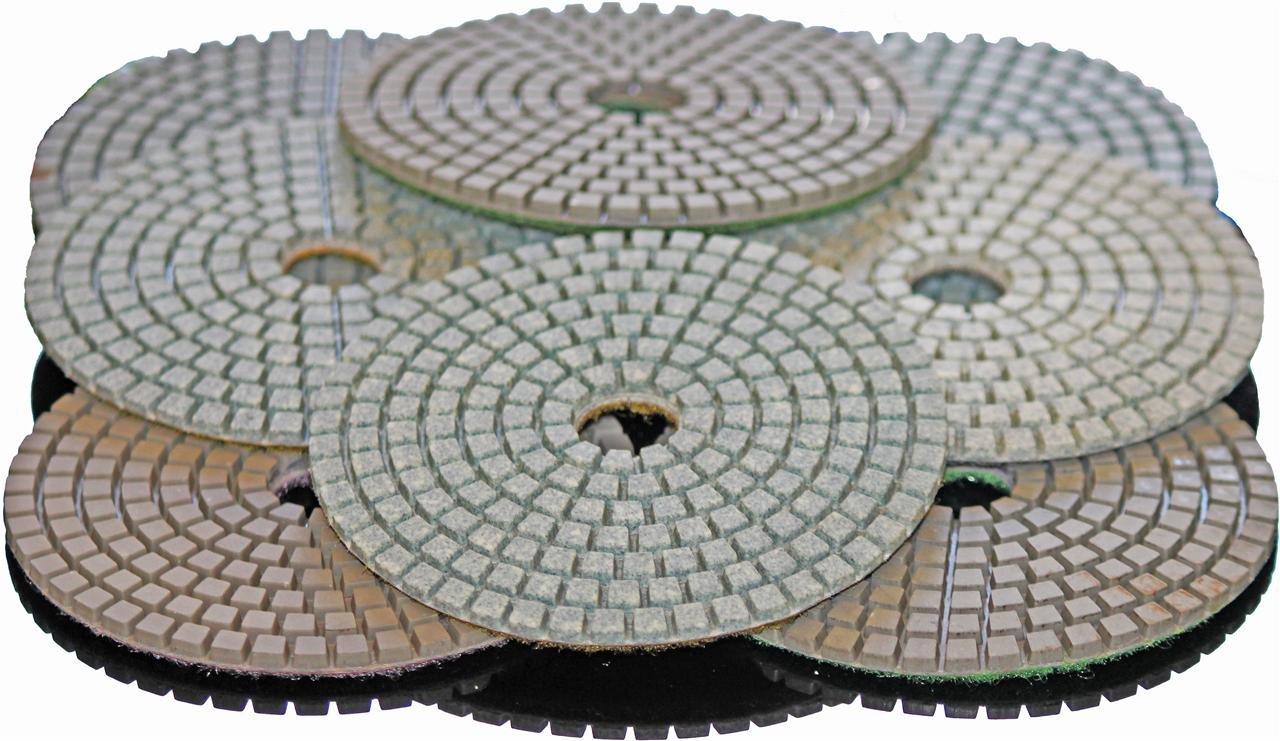 Stadea PPW171B 4'' Diamond Polishing Pads Grit 400 Wet for Concrete Travertine Marble Terrazzo Glass Granite Stone Polishing, Pack of 10