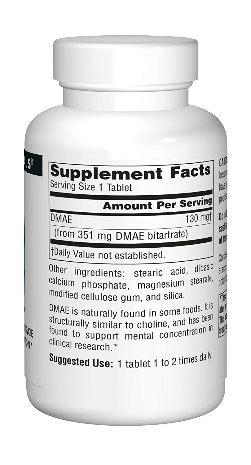 Source Naturals, DMAE - 351mg x200tabs: Amazon.es: Salud y cuidado personal