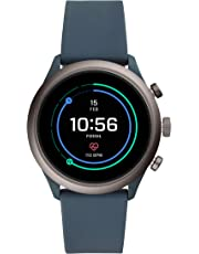 Fossil Herren-Smartwatch mit Silikon Armband FTW4021