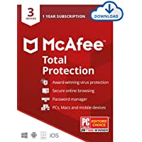 Deals on McAfee Total Protection 2020 3-Device 1-Year Software