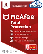 $24 » McAfee Total Protection, 3 Device, Antivirus Software, Internet Security, 1 Year Subscription- [Download Code] - 2020 Ready