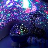 Elecstars ZJB00186-XxdBlue Star Night Light Projector - Projection for Children Kids Romantic Magical Star Night Lamp Rotating 3 Modes, Children Kids Gift Toys Men Women Teens Sleeping Aid
