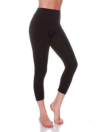 f1ac3618199 Emmalise Women's Active Athletic Capri Seamless Legging - Junior and Plus  Sizes at Amazon Women's Clothing store: