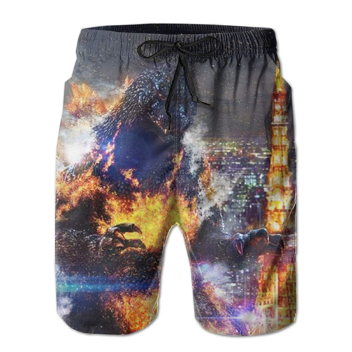 Mens Summer Holiday Beach Board Shorts Slim Fit Quick Dry Swim Trunks Surf Pant