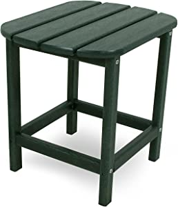 "POLYWOOD SBT18GR South Beach 18"" Outdoor Side Table, Green"