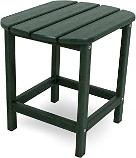 "product image for POLYWOOD SBT18GR South Beach 18"" Outdoor Side Table, Green"