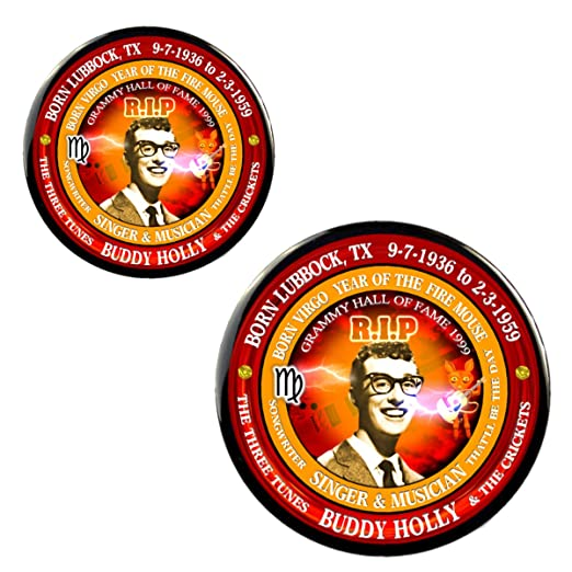Amazon com: Buddy Holly RIP Magnet + Pin, Astrology