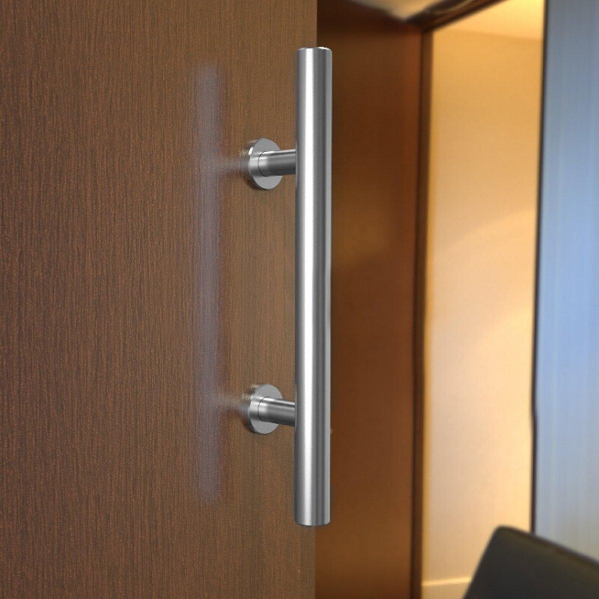 Onarway en acier inoxydable tirer et Flush Poign/ée de porte bois et verre Poign/ée de porte. Poli rustique Porte de Grange