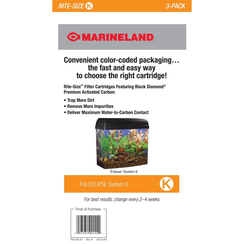 amazon com marineland pa0136 03 rite size cartridge k 3 pack