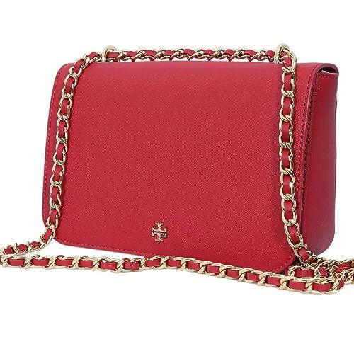 d60106eed542 Tory Burch Emerson Adjustable Shoulder Bag Kir Royale Red 47385 0218   Amazon.ca  Shoes   Handbags
