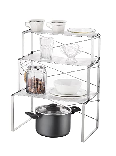 Image Unavailable  sc 1 st  Amazon UK & Multi-use 3 Tier Kitchen Cabinet and Counter Shelves Storage ...