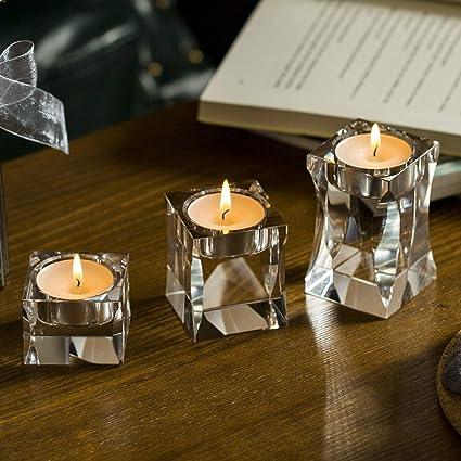 Crystal DIAMOND Candle Tea Light Holder Set of 6 For  Weddings Home Decor Table