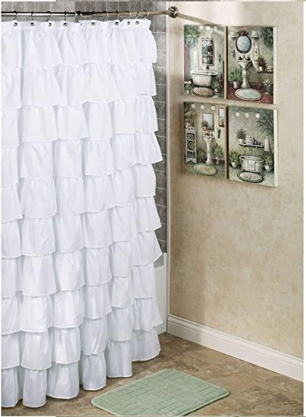 1kidandaheadaches Ruffled Gypsy Crushed Sheer Shower Curtain Bathroom Restroom 70x72quot Many Colors To Choose From