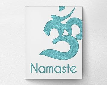 Amazon.com: Póster para pared Eric434Keats Namaste Om Yoga ...