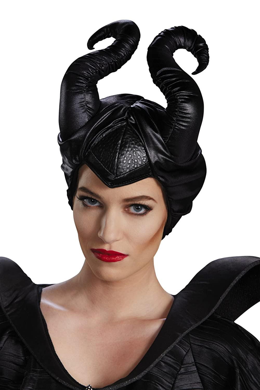 Maleficent black horns costume headpiece