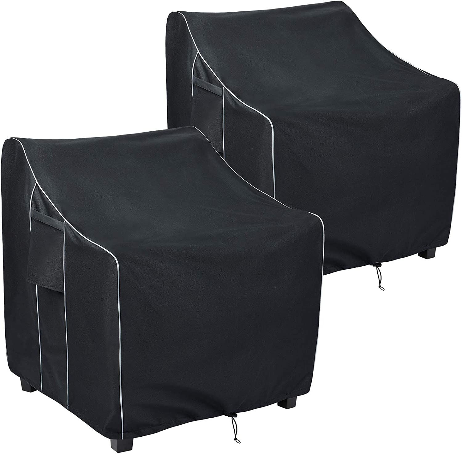 FORSPARK Patio Chair Covers Heavy Duty Outdoor Furniture Covers Waterproof Fits up to 30 x 27 x 36 inches(W x D x H) 2 Pack