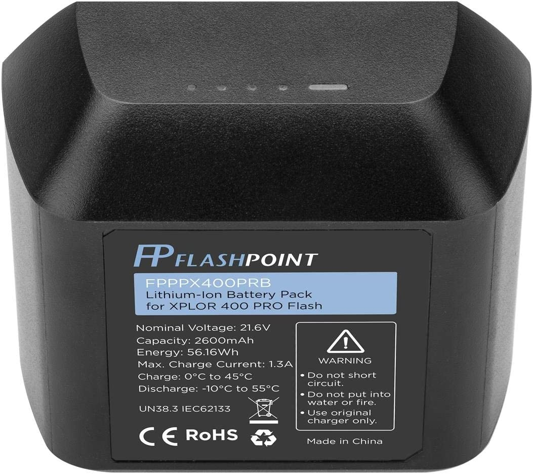Flash AD400Pro - Godox WB400P Flashpoint Rechargeable Lithium-Ion Battery Pack for XPLOR 400 PRO 21.6V, 2600mAh