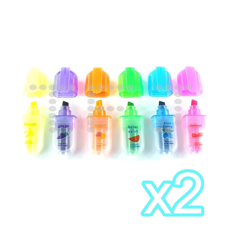 Mini Parfum/é Stylo Surligneur 1 lot Bleu//Vert//Orange//Rose//Violet//Jaune Fruit Parfum/é/Écrire Highlighter Artisanat Stylos Sac De Soir/ée Cadeau