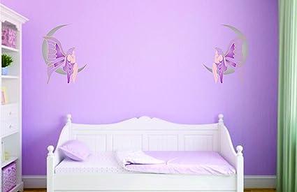 Luna hada plantilla - reutilizable de pared plantillas para ...