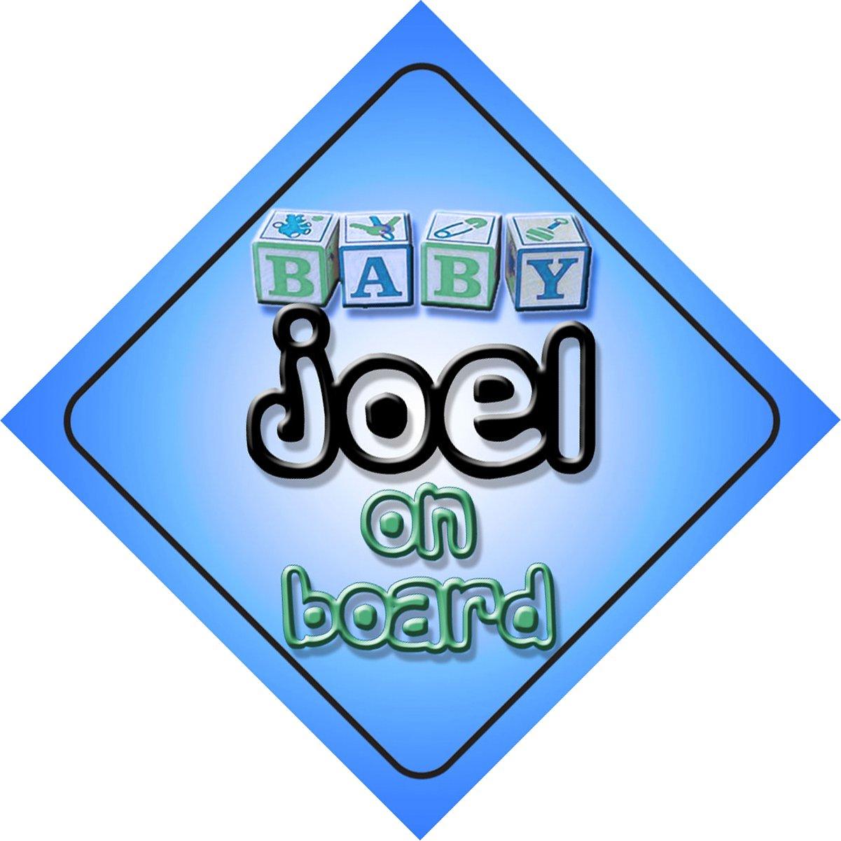 Joel on board baby Boy 'per auto, perfetto come regalo per bambini e neonati mybabyonboard.co.uk