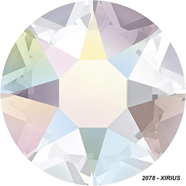 Panini tejidos Strass termoadhesivas originales Swarovski Hotfix Rhinestone purpurina colores Crystal y Crystal AB (Aurora Boreal)
