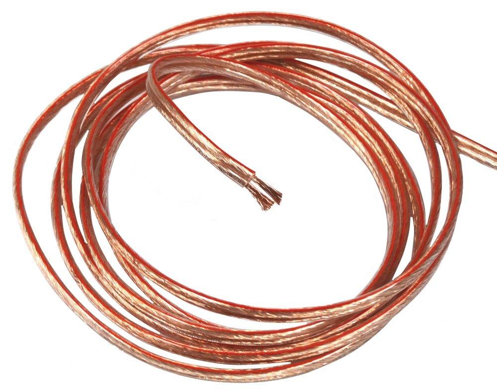 Aerzetix: 2M mètres 2x2.50mm2 Câble cordon pour Enceintes Haut-parleurs C4370