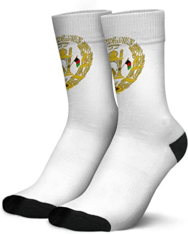 Men's Boys Dress Crew Socks Afghan National Emblem Novelty Patterned  Colorful Trendy Funny Cool Comfy Casual Hiking Party Socks Black White Gift  at Amazon Men's Clothing store