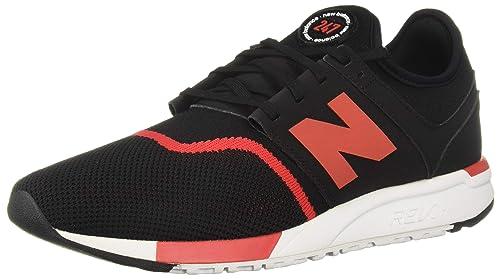 le dernier a5870 eed7b New Balance MRL247GR, Baskets pour Homme Noir/Rouge 39.5 EU ...