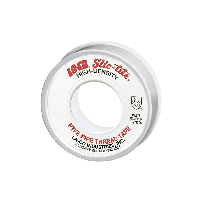 LA CO 44083 Slic Tite PTFE Pipe Thread Tape Premium Grade 600 Length 1 2 Wide White