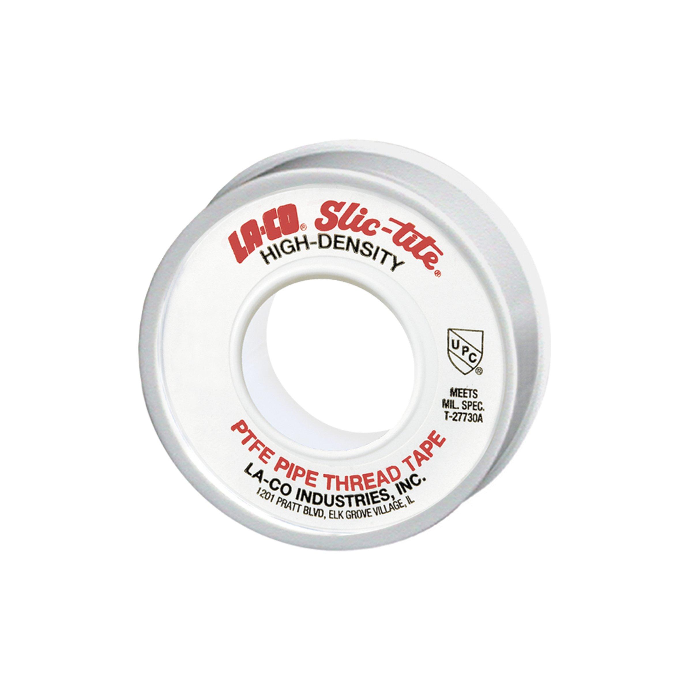LA-CO 44084 Slic-Tite PTFE Pipe Thread Tape, Premium Grade [1200