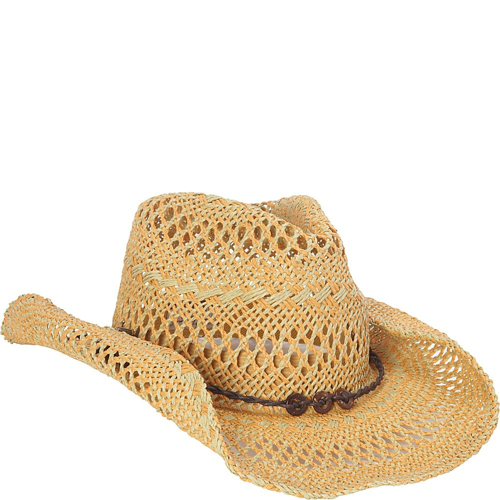 Sun 'N' Sand Western Cowboy Hat (One Size - Natural)
