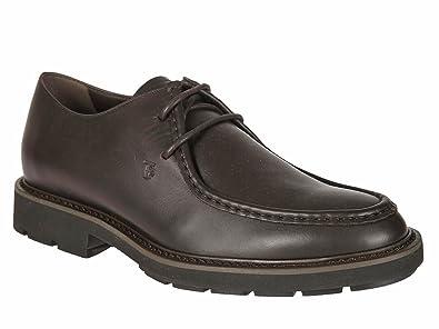 6615eab04381 Tod s Chaussures à Lacets en Cuir Marron foncé - Code modèle   XXM46A0U270VADS800 - Taille
