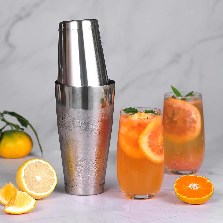 Cocktail Shaker, Professional Boston Shaker, Stainless Steel Martini Shaker