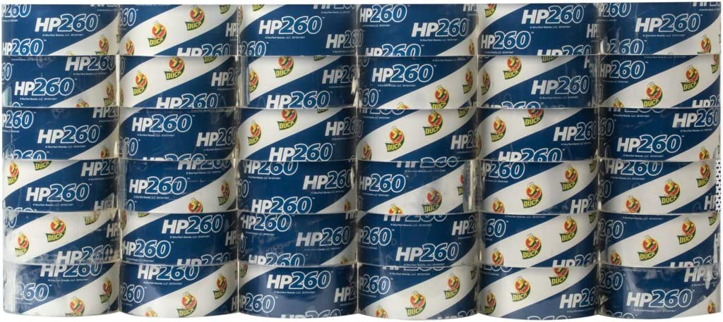 Duck HP260 Packing Tape Refill 1.88 Inch x 60 Yard 1067839 Clear - 2 Pack 8 Rolls