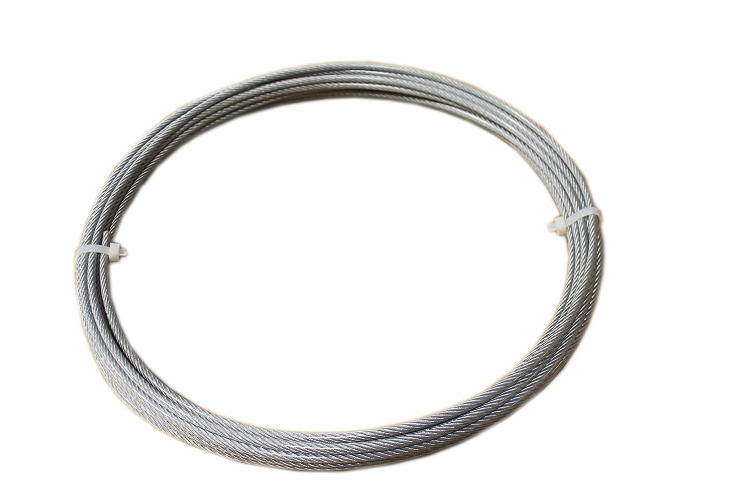 Loos Stainless Steel 302/304 Wire Rope, Vinyl Coated, 7x19 Strand ...