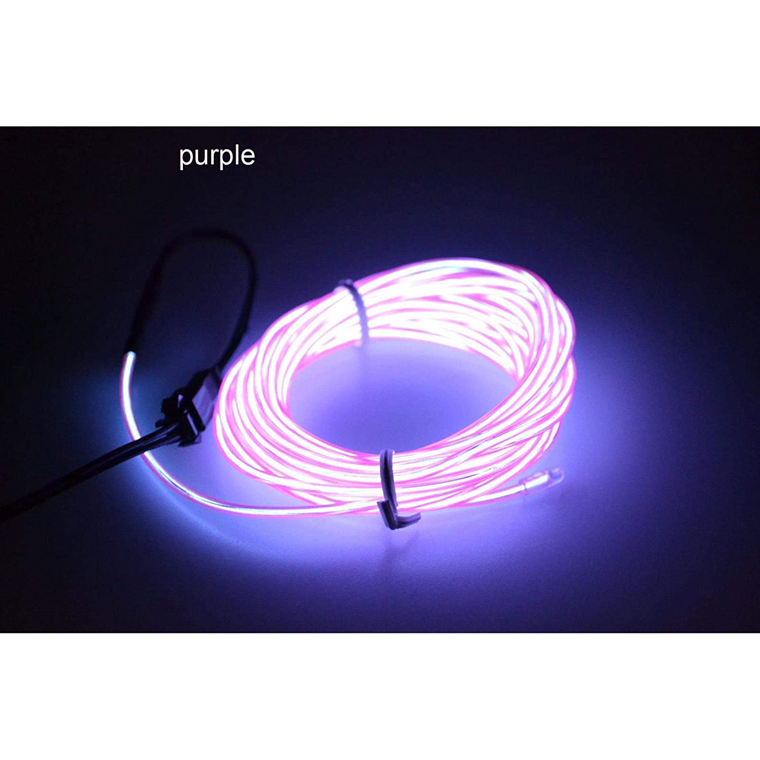 Controller Glow EL Wire String Neon LED Light Strip Rope Tube Decor Car Party