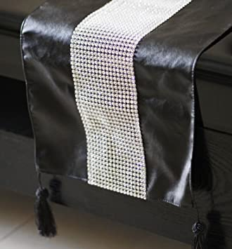 Attrayant Table Runner For Diamond/Black Faux Leather Table Runner/ Shining Table  Runner/ Decorations