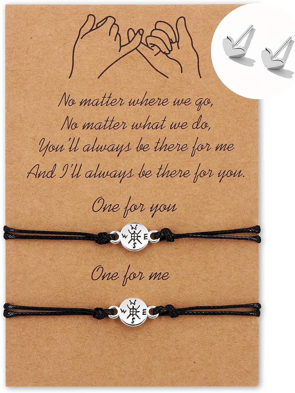 Couple Wish Bracelet,Friendship Bracelet,Cord Bracelet,Couple/'s Bracelet Set,Bracelet For Mom,Star Bracelet,Inspirational Bracelet,Gift