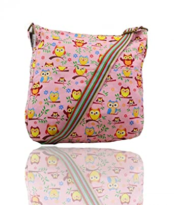 0bebd37021 LeahWard Women s Fabric Animal Print Cross Body Handbags Shoulder Messenger  Bag For Holiday (BABY PINK