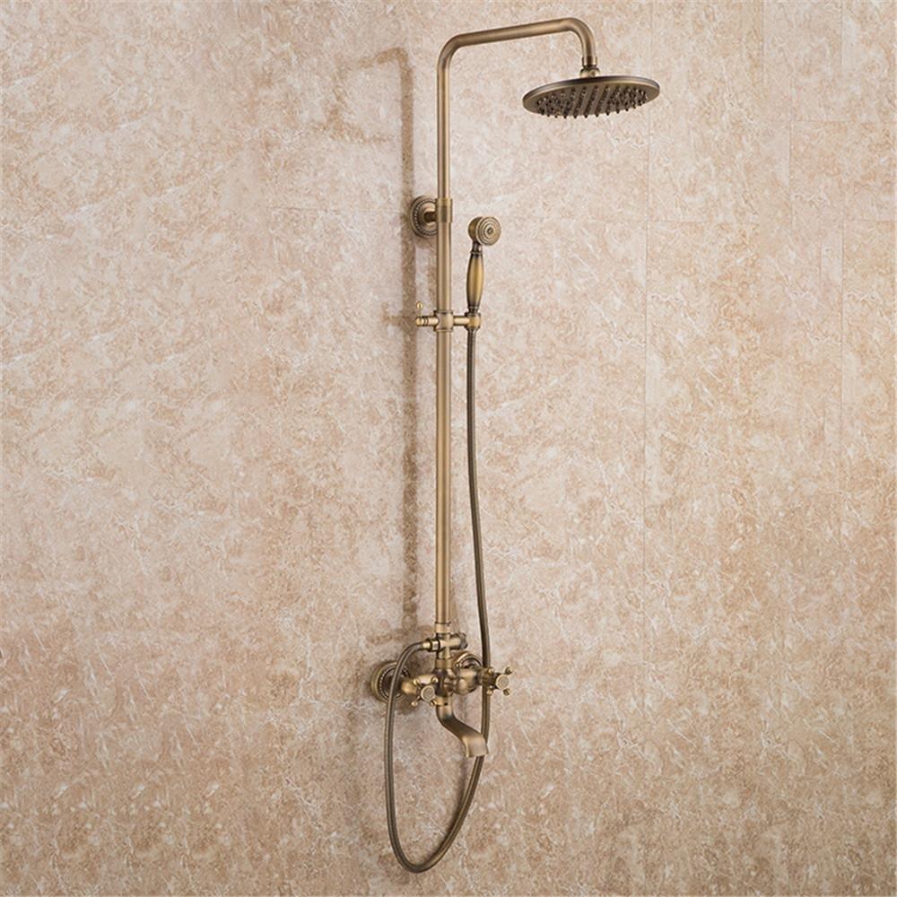 White5 European-style retro three-speed quick-release shower shower full of copper antique shower shower set , white4