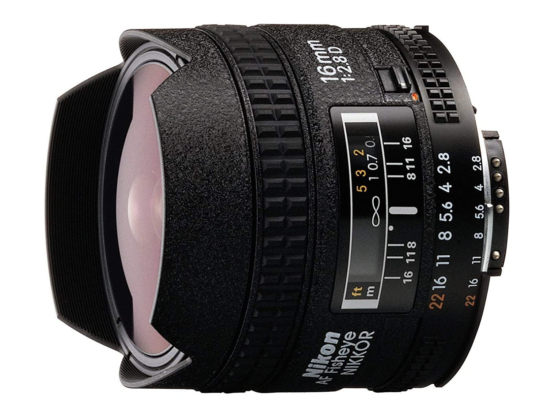 Nikon AF FX Fisheye-NIKKOR 16mm f/2.8D 固定レンズ オートフォーカス付き Nikon デジタル一眼レフカメラ用 (認定整備済み)   B07L5QXNQY