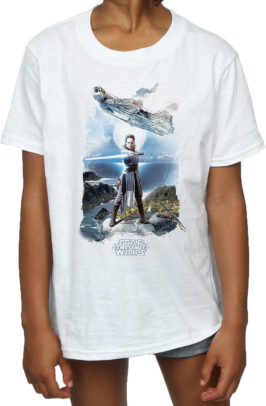 Star Wars ni/ñas The Last Jedi Rey Falcon Camiseta