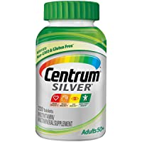 Centrum Silver Multivitamin for Adults 50 Plus, Multivitamin/Multimineral Supplement with Vitamin D3, B Vitamins, Calcium and Antioxidants - 220 Count